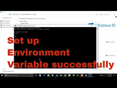 How to setup NodeJs Environment Variable in 2018 | Learn Some Tech