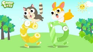 ABC Animals Part 2: Mouse, Pig, Cat, Dog...(Candybots) - Learn Alphabet Video for Kids