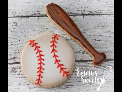 Baseball Cookies - Bat and Ball - by Emma's Sweets