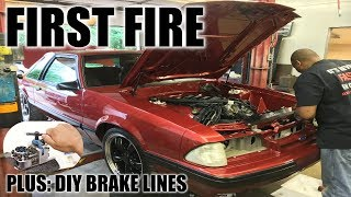 Download The first fire of coyote swapped foxbody number 11! Plus, DIY brake lines! Video