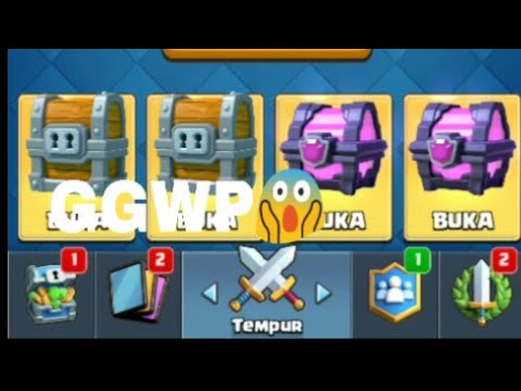 Buka 2 Giant Chest ,2 Magical Chest Dll .|Clash Royale