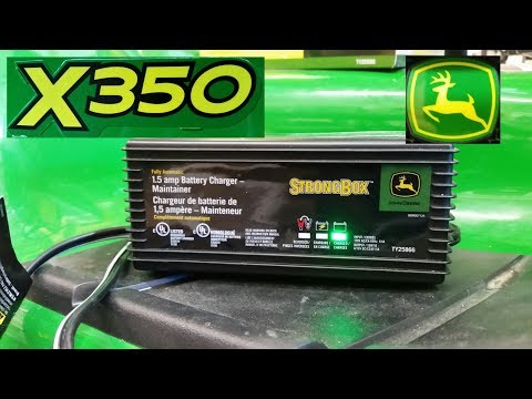John Deere Battery Charger /Maintainer- TY25866 Install On X350 Lawn Tractor By KVUSMC
