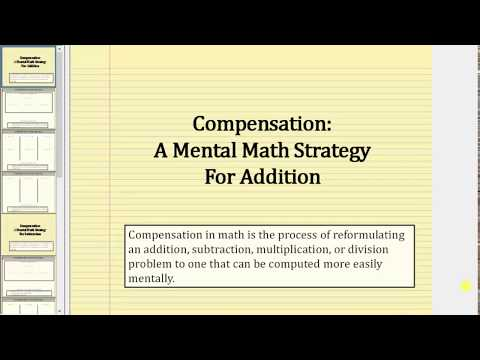 Mental Math: Addition Using Compensation