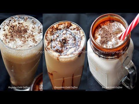 Cold Coffee Recipe - 3 ধরনের ঠান্ডা ঠান্ডা কোল্ড কফি | Easy Quick Instant Cold Coffee Recipe