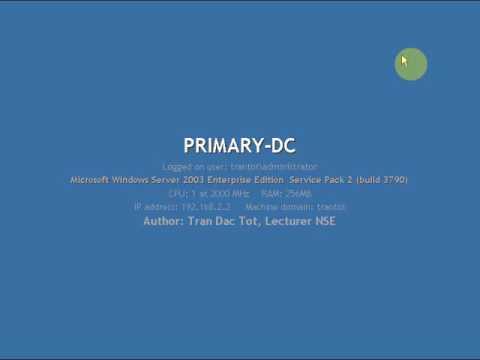 Rename Domain Controller Windows Server 2003