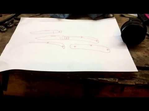 Making a slipjoint: Part 1 - establish your pattern/template.
