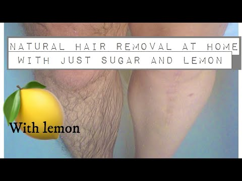 Natural Hair Removal At Home With Just Sugar And Lemon || With Full Demostration