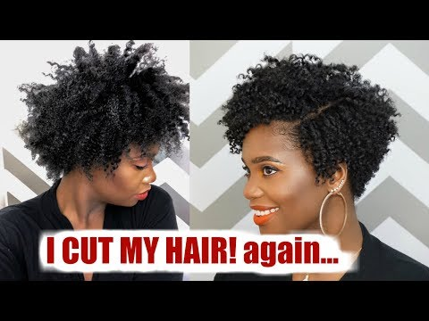 How to cut ✂️ Natural Hair into a Tapered Cut #HairCutBae | MissKenK
