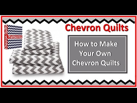 How to Make a Zig Zag Chevron Quilt Pattern with or without Triangles