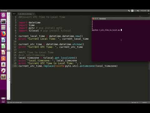 Python Convert UTC Time to Local Time