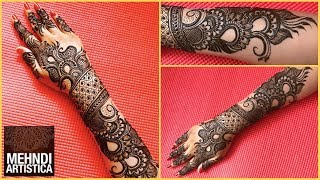 New Designer Mehndi Design For Bride | Haathphool Mehendi Designs For Hands (Full Design Part 2)