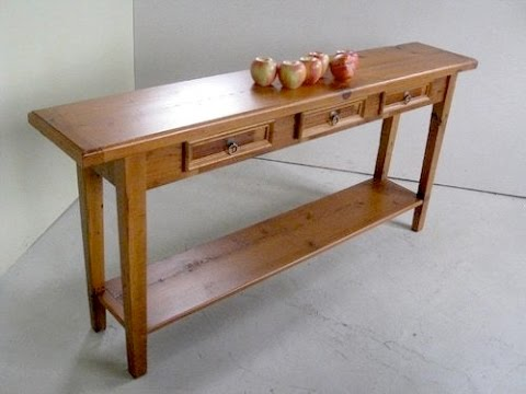 Pine Lumber Console Table