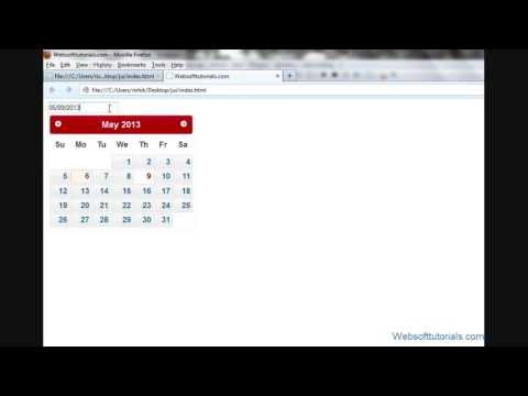 jquery tutorials in hindi / urdu - 55 - jquery-ui datepicker