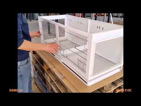 Breeding Cage - Voliera per allevamento Model 1310C (With paper)
