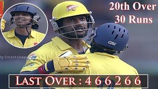 Last Over Miracle, Chennai Rhinos Vishal & Vishnu Hit 30 Runs in 6 Balls against Bhojpuri Dabbangs