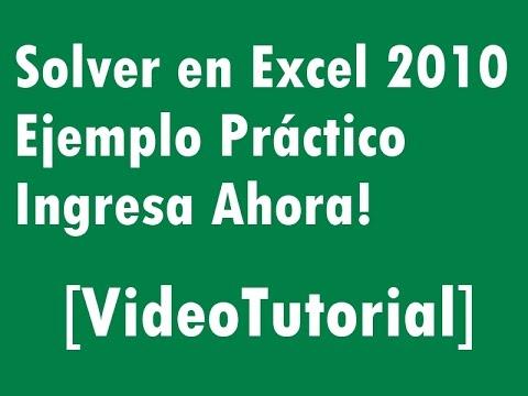 Curso Excel Online: Solver Excel 2010 [Ejemplo Práctico]