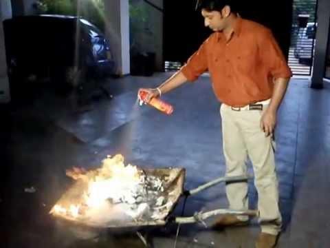 Foam Fire Extinguisher. Fire Stop