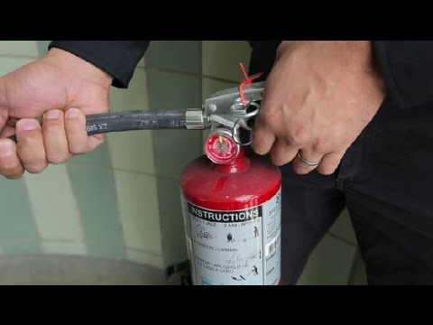 Safety Training for a Fire Extinguisher : Home Safety