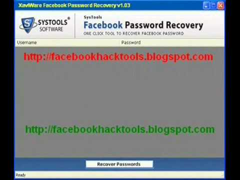 XaviWare Facebook Password Recovery v1.03