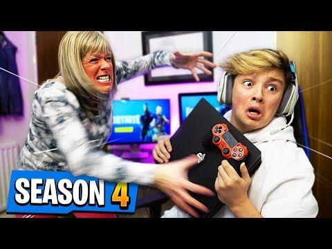 Mom tells Kid he can't play Fortnite Season 4 ever again.. [MUST WATCH]
