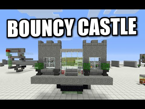 Minecraft PS4 - REDSTONE BOUNCY CASTLE - Tutorial ( PS3 / XBOX / WII / PE )