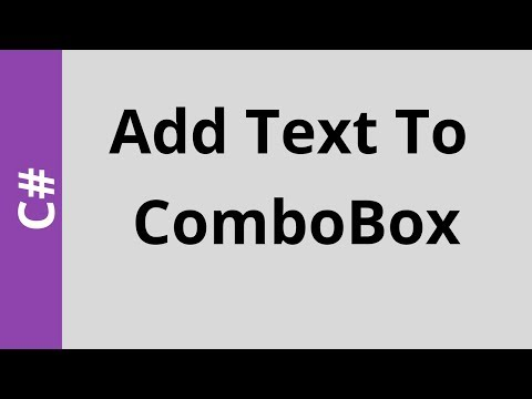 C# - How To Add Text To Combobox From TextBox Or Another Combobox In C# [with source code]