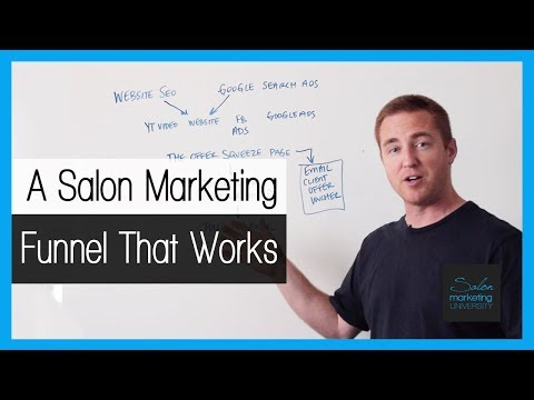 Salon Business Plan - Genius salon marketing funnel to attract new clients