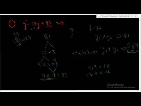 Factors of difficult quadratic equation | Shortcut tricks |