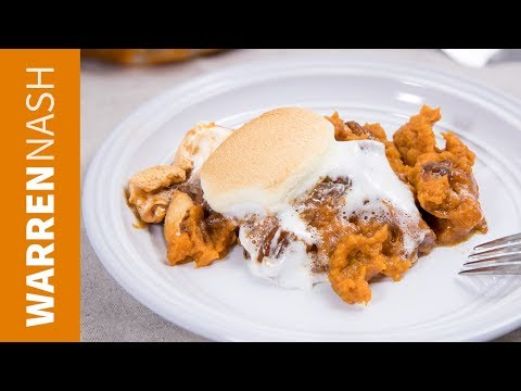 Sweet Potato Casserole with Marshmallows and Pecans - Recipes by Warren Nash