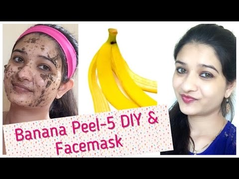 #9 Beauty tips - 5 DIY Banana peel skin care / Banana peel face mask in Hindi with English subtitles