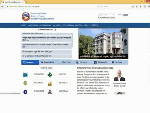Online Value Added Tax (VAT) return filing Nepal- अनलाइन मु.अ. कर (भ्याट) विवरण भर्ने तरिका