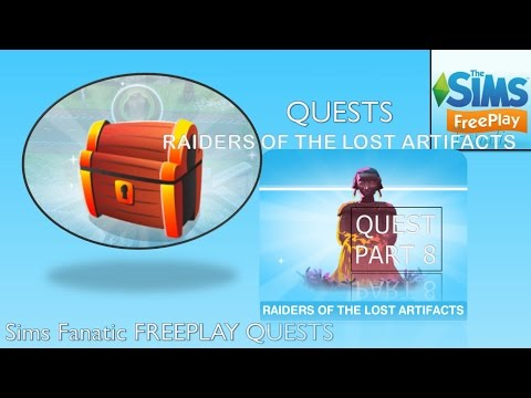 Sims FreePlay - The Mysterious Island Monuments (Quest pt. 8 {Raiders of the Lost Artifacts})