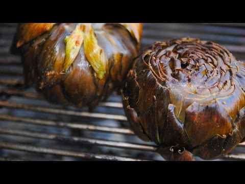 Grilled Artichoke on Weber Kettle | Grilled Artichoke Recipe