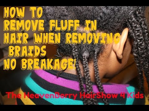 How to remove fluff from braids on afro curly hair
