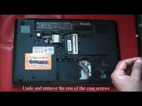 how to dismantle to fix components in HP G62. Tear down repair.