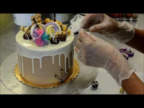 White Chocolate Birthday Cake Decorating Tutorial