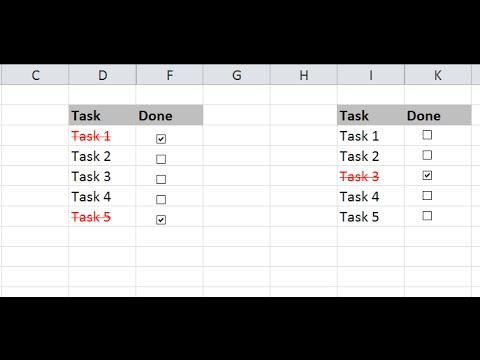 How To Create To Do List or Checklist in Excel
