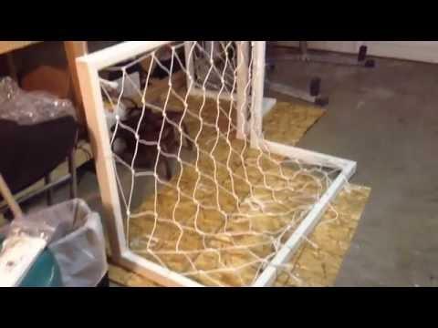 Soccer Goal home made build, paint, net 2016