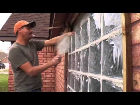 Replacing old windows with glass blocks