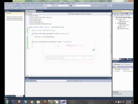 Create Simple Webservice in ASP.net with c#