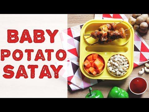 Baby Potato Satay Recipe   Vegetable Satay with Peanut Sauce   Quick & Easy Snack Recipe For Kids