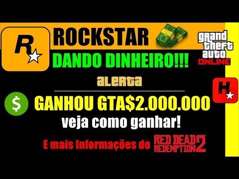 Como obter US $ 2.000.000 no GTA Online! Rockstar dá Dinheiro no GTA V de BÔNUS do RDR2