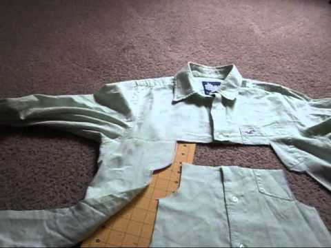 How to make an Adorable dress from a Men's Dress shirt!-Beginner Level with detailed instruction