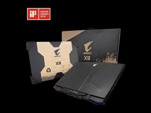 Aorus X9 DT (i9 - 8950HK, GTX 1080, FHD) Laptop