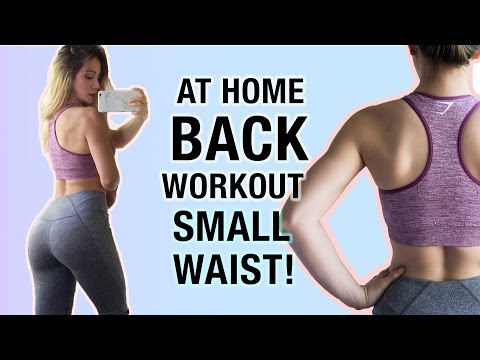 Back Workout | Make Your Waist Look Smaller | Home Workout Routine