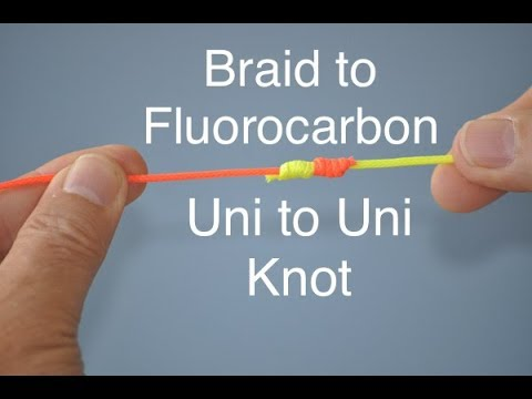 EASIEST Braid to fluorocarbon Uni to Uni Knot Simple and Easy