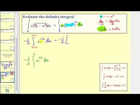 Definite Integration Using Substitution (No Trig)