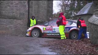 Nil Solans - Small Off Track Accident on SS13 Chirk Castle - Wales Rally GB 2015