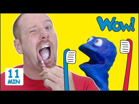 Steve, Brush your Teeth + MORE Stories for Kids from Steve and Maggie with Bobby | Wow English TV