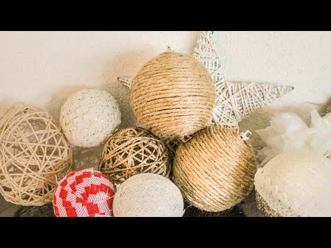 Wrapped Twine Globes | Rustic Christmas Decorations (part. 4)